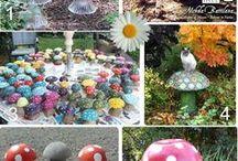 Mushrooms garden
