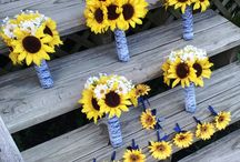 Sunflowers and gerbera bouquets