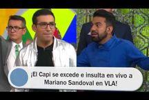 ¡El Capi se excede e insulta en vivo a Mariano Sandoval en VLA!