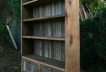 Barn wood and cowhide