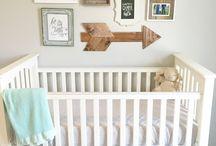 Collage wall nursery