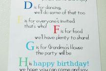 Alphabet Birthday / by Kathleen Heilman