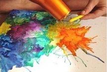 maľovanie voskovky voda