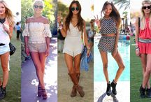 """Coachella"" Summer Music Festival / What to wear to your favorite summer music festival #coachella. First of all u have to wear something comfy! Floral,maxi dresses, colors, sandals, flower crowns and more.  More festivals : TomorrowWorld festival , Osheaga Festival , ...."