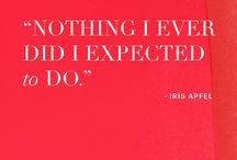 Vogue Quotes / The only thing more inspiring and memorable than these quotes are the women who said them.