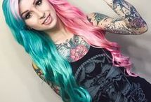 Split Dyed Hair Inspiration