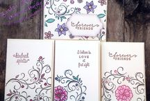 Stampin up Falling flowers