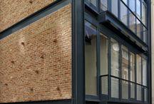 steel & briks & wood & glass
