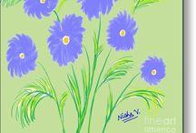 Blue Flowers!
