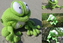 Frog Kvolya Amigurumi toy / Projects made with Frog Kvolya crochet pattern by Svetlana Pertseva for LittleOwlsHut / by LittleOwlsHut