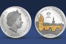 Stříbrné mince / Stříbrné mince patří k nejoblíbenějším sběratelským exemplářům ve světě numismatiky. Široká škála témat a motivů mincí v kombinaci s dosažitelnou cenou stříbra činí ze stříbrných mincí vyhledávaný a žádaný sběratelský předmět.