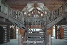Cool Log Home Staircases & Railing
