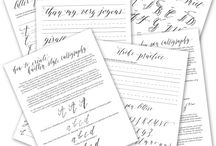 The Write Way / Stuff about calligraphy and fonts
