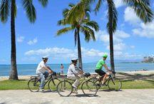 Biking Hawaii / Photos of our fun, easy sightseeing bike tours of Oahu, Waikiki, Honolulu and North Shore.