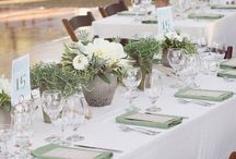 Natural Elegance / Candles, draping, cement in a barn