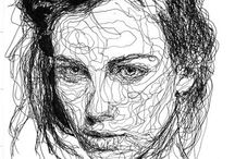 |continuous line portraits| / Portraits