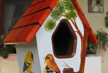 Casitas pájaros decoración