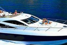 Saint George / Sail yacht charter Greece on board crewed motor yacht Saint George fast performance motor yacht Greece with Europe Yachts.