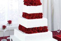 Red roses wedding theme