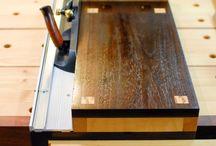 wood plane shooting board