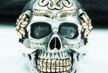 Sugar Skull biker ring