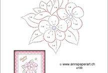 Paper stichting patterns