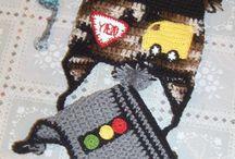 Rena-Design / originally hand crochet - hand knitted hat/scarf designed items