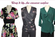 Wrap crossover bodices