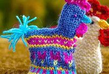 ...med strikkepinner