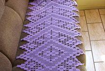 Caminos de mesa en crochet