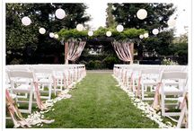 Pink, White and gold wedding