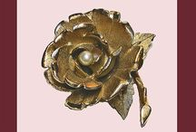 FABULOUS FLORAL VINTAGE JEWELRY / Vintage Jewelry Items With A Floral Theme