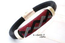 Regaliz bracelet / Cuir et perles