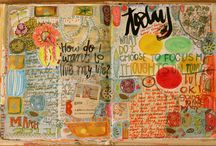 Art Journaling Ideas / Want ideas for art journaling in an art journal? This is where I post ideas for art journaling!