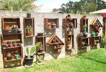 decoracion oración en guacales para jardín