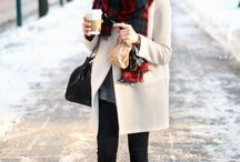 Outfits for cold weather / Cold, Winter, casual, outfits, fashion, warm clothes