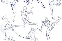 poses del cuerpo(variadas