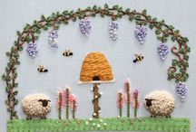 Sheep bees flowers