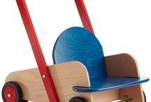 Wooden walker along toy