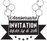 Tampons  anniversaire à personnaliser / Tampon personnalisé pour créer ses faire part d'invitation.