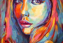 Portrait Pinting Acrylic