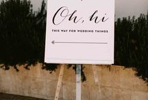 The wedding sign
