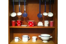Our Enamelware / We have a small collection of German made enamelware on sale. We going to expand the range this year.
