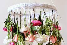 lustres com flores