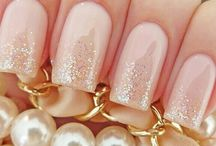 Wedding make-up nail
