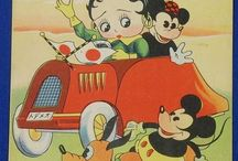 Betty Boop in vintage Japanese paper materials