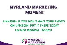 Myrland Marketing Moments - Short Marketing Tips from Nancy Myrland, LinkedIn Trainer, Social Media Strategist