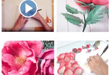 How to Make Silk Flowers tutorials / How to make realistic fabric flowers by Japanese technique Somebana. Step-by-step DIY flower fabric master classes with video, patterns and instructions.