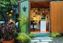 Garden Offices and Retreats / It doesn't have to be a fancy building, an old shed can actually do it. But having a place in the garden where you can sit down and work, meditate or just relax is fantastic.