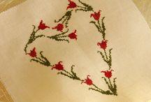 Cross Stitch-virágok, növények, szívek / Keresztszemes-növények,virágok, szív minták